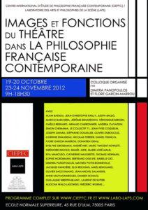 Autant j'aime le théâtre, autant je suis pour cette raison son ennemi (Gilles Deleuze et sa relation disjonctive au théâtre)